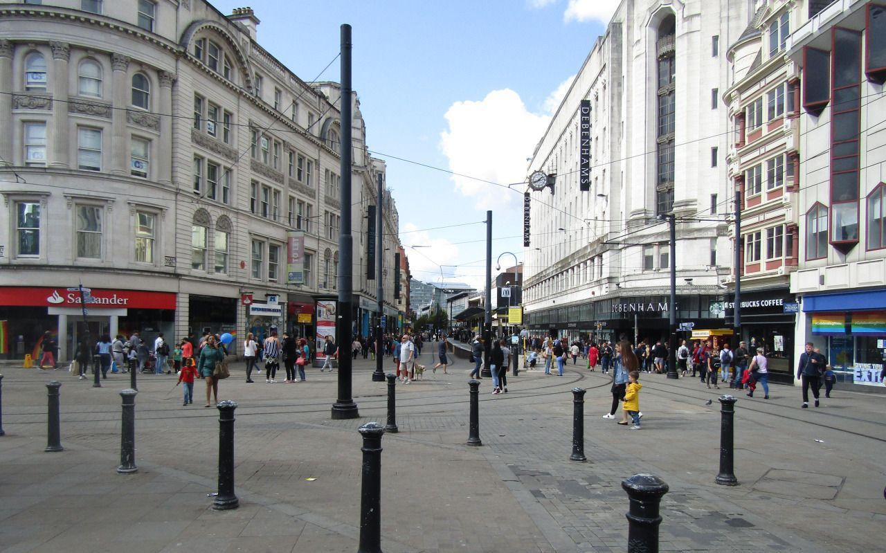 A view of Manchester near Picadilly Gardens