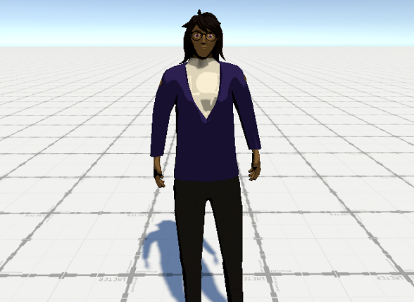 An screenshot showing the very early model for Marid