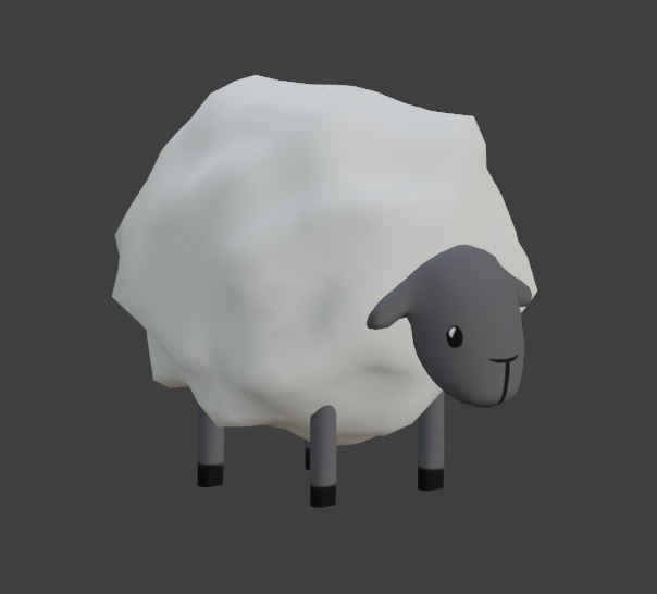 The stylised model of a sheep.